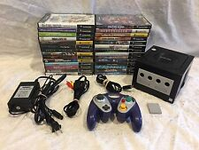 Lot Custom Rainbow LED Nintendo Black Gamecube Console With 28 Games
