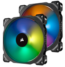 Corsair ML140 PRO RGB LED 140mm PWM Magnetic Levitation Fan Twin Pack with