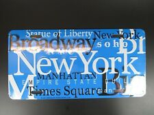 New York Sights Plate Metal Sign Metal 11 13/16in USA, Broadway, Empire,