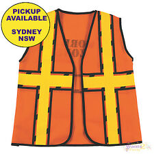 CONSTRUCTION WORKMANS VEST KIDS BUILDER BIRTHDAY PARTY SUPPLIES CHILDS COSTUME