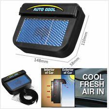 Solar Powered Car Air Conditioner Window AirVent Cooling Fan Ventilator Radiator