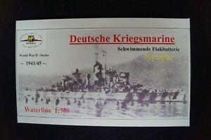HP Models 1:700 Waterline German-Navy Flakbatterie Nymphe -1941/45  -Resin-Baus.