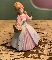 Vintage Sachet/Potpourri Holder - Girl Figurine - Japan