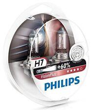 2 x Bombillas Philips VisionPlus H7 60% Vision Plus Faros Halogeno Coche Lampara