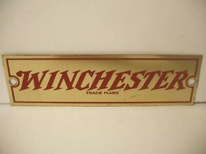 Original Winchester Metal dealer display sign