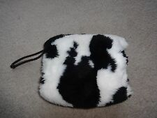 Vintage Black & White Faux Fur Muff Purse