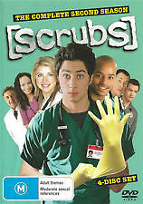 SCRUBS THE COMPLETE SECOND SEASON (2) - BRAND NEW & SEALED 4-DISC DVD