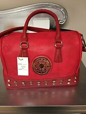 Beautiful Red Boston Bag / Shoulder bag