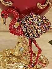 Bird Jewelry box Faberge egg Only One Music Russian Trinket box Ruby 24k Gold Hm