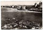 CPSM GF 35 - SAINT MALO (Ille et Vilaine) 64. Plage de l'Eventail et le Château