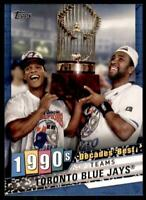 2020 Topps Series 2 Decades Best Blue #DB-76 Toronto Blue Jays