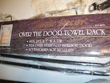Classic Decor Over The Door Towel Rack, Chrome Plate Finish