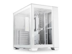 LIAN LI O11DMINI SNOW WHITE - White SECC / Aluminum /Tempered Glass/ ATX, Mirco
