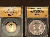 2015 P  Harry S. Truman  Dollar Coin and Chronicle Coin Set