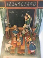 "Vintage 1950s Pop Up Nursery Rhyme Book Card ""Mary's Lamb"""