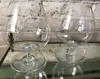 "Pair 5.75"" Baccarat Crystal, Degustation Perfection Large Crystal Brandy Glasses"