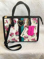 Betsey Johnson Large Floral Satchel Bag With Card Case.  Wonderful Bag!