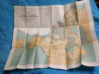 Antique Map Geodedic Survey of Canada 1913-18 Arctic Expedition Discoveries