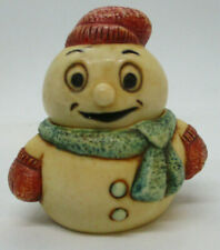 Pot Belly Snow Cheerer Harmony Kingdom Snowman Trinket Box Collectible