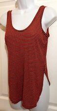 PHILOSOPHY Republic Clothing Orange, Black Ribbed Knit Tank Top Shirt MEDIUM