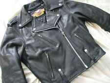 Harley Davidson Motorcycle Leather Jacket H-D Vtg 90s Cycle Champ Queen W S 36