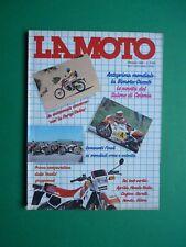 LA MOTO Ottobre 1984 Honda VF 500 Gilera RX Arizona 125 Cagiva 350 Ala Azzurra