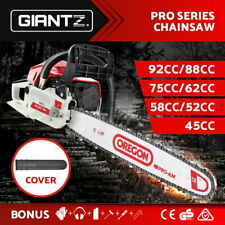 Giantz Petrol Commercial Chainsaw E-Start Bar Chain Saw Top Handle Tree Pruning