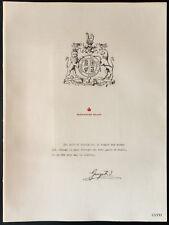 1926 - Lithographie citation de George V - british king - WW1