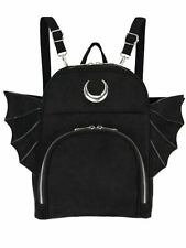 Restyle Elegant Gothic Bat Wings Crescent Moon Occult Witchy Punk Mini Backpack