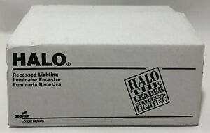 """HALO Recessed 426RG 6"""" White Trim w/ Gold Reflector Cone Lighting Fixture Cooper"""