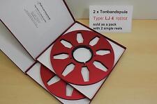 """Cassette Bobine 10,5"""" -2 erPack-F. Teck, REVOX, TASCAM Tape Reel-NEUF-Nº lj4 -"""