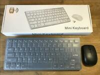 Wireless Mini Keyboard and Mouse for LG 47LN575S-ZE SMART TV
