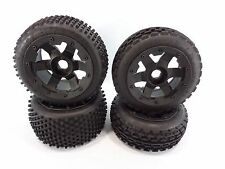 ROVAN BLACK BEADLOCK WHEELS 24mm RIMS & DIRT BUSTER TIRES HPI BAJA KING MOTOR