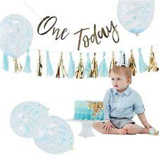 BAMBINO 1° compleanno torta Smash FOTO SHOOT Blu pastello oro