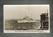 Mint RPPC Postcard Warship Navy HMAS Cruiser Australia At Sea