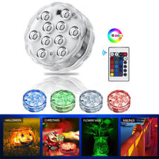 Submersible 10LED RGB Light Lamp Home Party Wedding Vase Tank Decors Waterproof