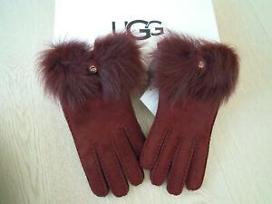 UVP 159,95€ Long Pile Bow Handschuhe port Lammfell mit Echtfell Gr. M