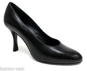FURLA Black Leather Clasic Size 6 Heels Pumps or Shoes 36