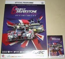 Le Mans-CME 6 ore di SILVERSTONE 2016 programma & pieghevole Mini Guida/Poster