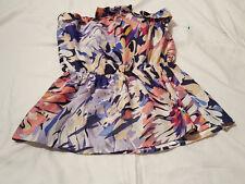 VELVET HEART~Medium Colorful Tube Top Blouse Tunic Ruffle Strapless