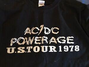 ORIGINAL Owner AC/DC Powerage tour shirt 1977 mens M Bon Acdc UFO Tower PHL '78