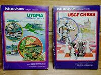 Mattel Intellivision Utopia & USCF Chess Vintage Boxed Video Game Lot