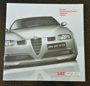 ALFA ROMEO 147 GTA 3.2 LITRE V6  TECH SPEC OPTIONS BROCHURE 2003 ENGLISH EXC