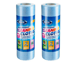 2 x 40pc Large All Purpose Cleaning Cloths Wiping Rolls Premium Quality J Cloth