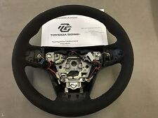 2015-2017 Cadillac CTS-V Jet Black Suede Steering Wheel 23316245 Hand-Stitched
