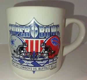 Vintage 1993 Superbowl XXVII Dallas Cowboys Vs Buffalo Bills Mug