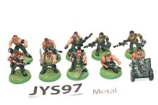 Warhammer Imperial Guard Catachan Jungle Fighters With Heavy Bolter Metal -JYS96