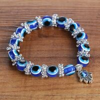 Unique BLUE Evil Eye Bead Protection Good Luck Bracelet Jewellery Turkish Hand