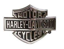Harley-Davidson® Men's Bar & Shield Logo Chrome Finish Belt Buckle HDMBU10615
