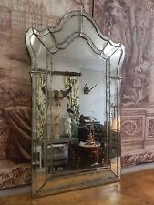 Unique Antique Style Venetian Aged Oxidised Beautiful Shaped Boudoir Mirror